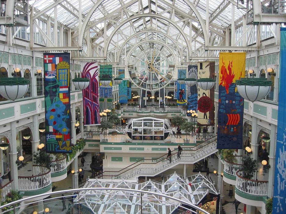 shopping centre in dublin, ireland